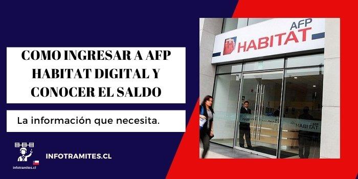 COMO INGRESAR A AFP HABITAT DIGITAL Y CONOCER EL SALDO