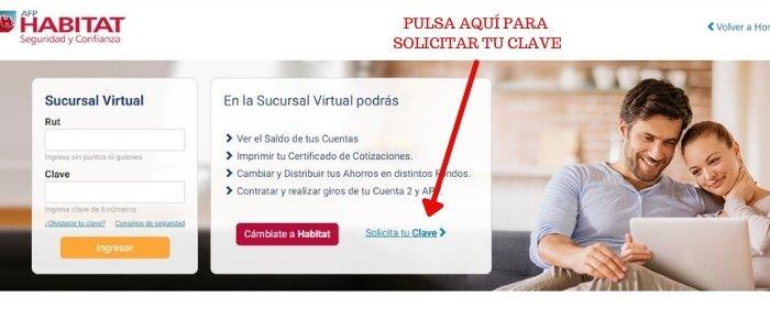 solicitar clave sucursal virtual