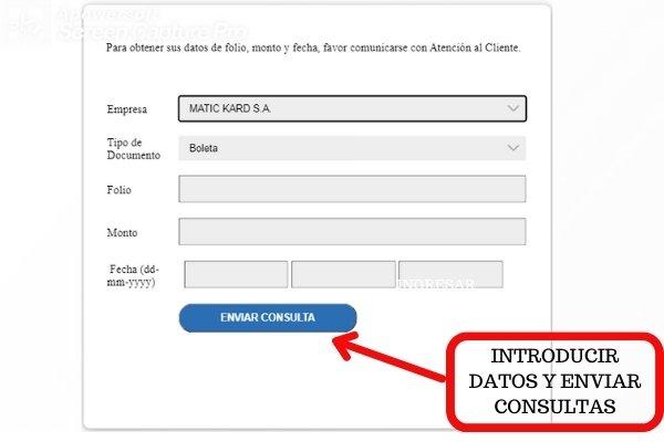 enviar consulta boleta