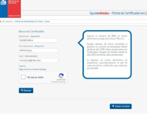 portal de certificados chile