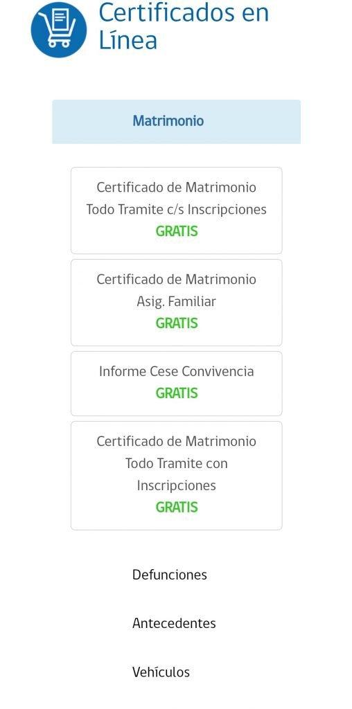 certificados en línea