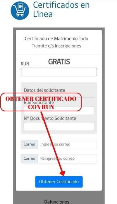 obtener certificado con run