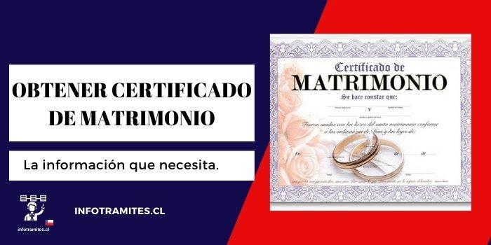 obtener certificado de matrimonio