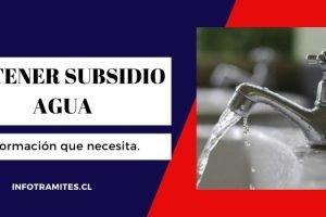 Cómo obtener subsidio de agua