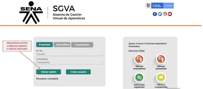 Sistema de Gestión de Aprendices SGVA