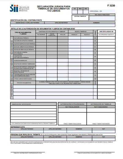 declaración jurada formulario